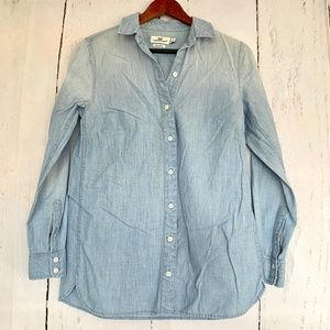 VINEYARD VINES Blue Relaxed Button Up Shirt Top 00